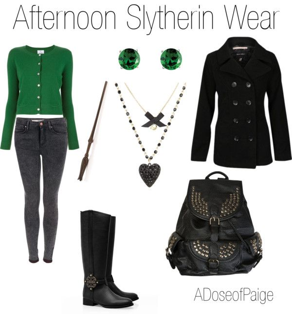 Love this. I'm not Slytherin, but I'd still totally wear this outfit.