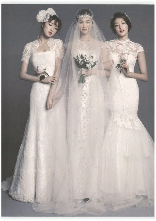 Yoon Sojeong, Choi Ara and Lee Seong Kyeong by Ahn Joo Young for ELLE Bride Korea Mar 2014