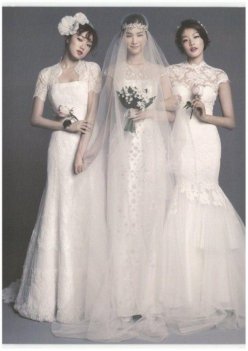 Yoon Sojeong, Choi Ara and Lee Seong Kyeong by Ahn Joo Young for ELLE Bride Korea Mar 2014