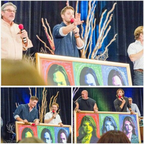 Jared and Jensen auctioning off Jared's pics