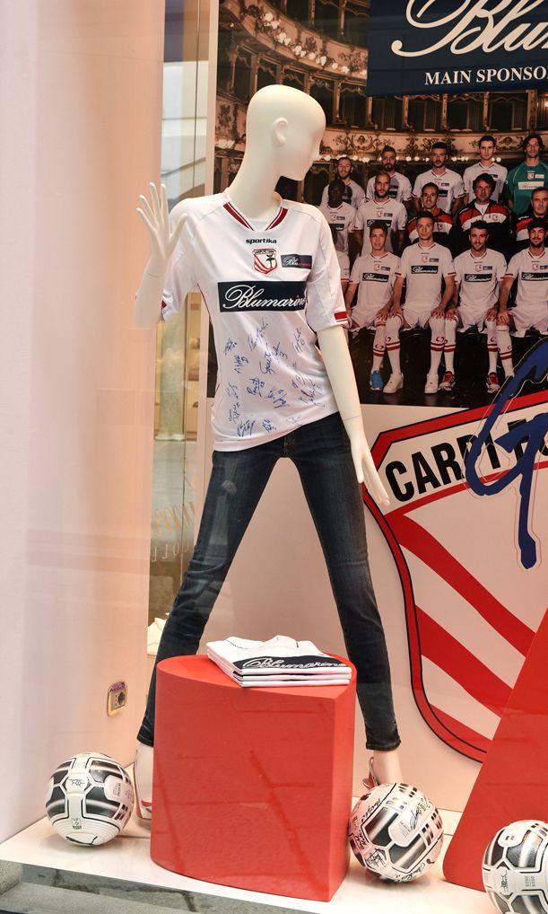 "A ""major league"" polo shirt! • Blumarine celebrates the Carpi FC 1909 promotion to the A League with a Limited Edition polo shirt."