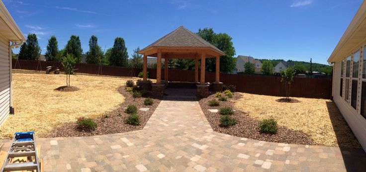 Extended outdoor living space with gazebo