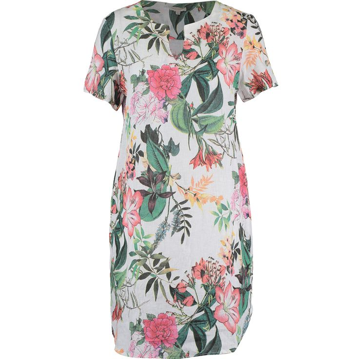 """Marisa & Marie"" Multicolour Hibiscus Floral Shift Dress - TK Maxx"