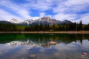 Patricia Lake with Pyramid Mountain in the Background, Jasper AB.