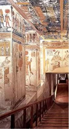 Tomb of Ramesses VI at the Valley of the Kings in Luxor, Egypt