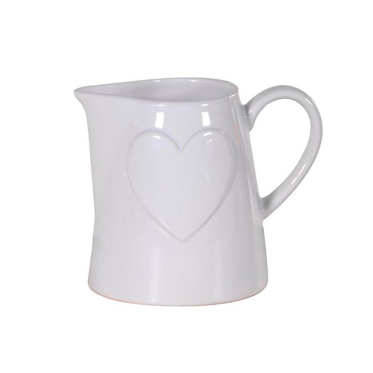 Scottie & Russell white heart jug £9.60 Free delivery on orders over £25.00