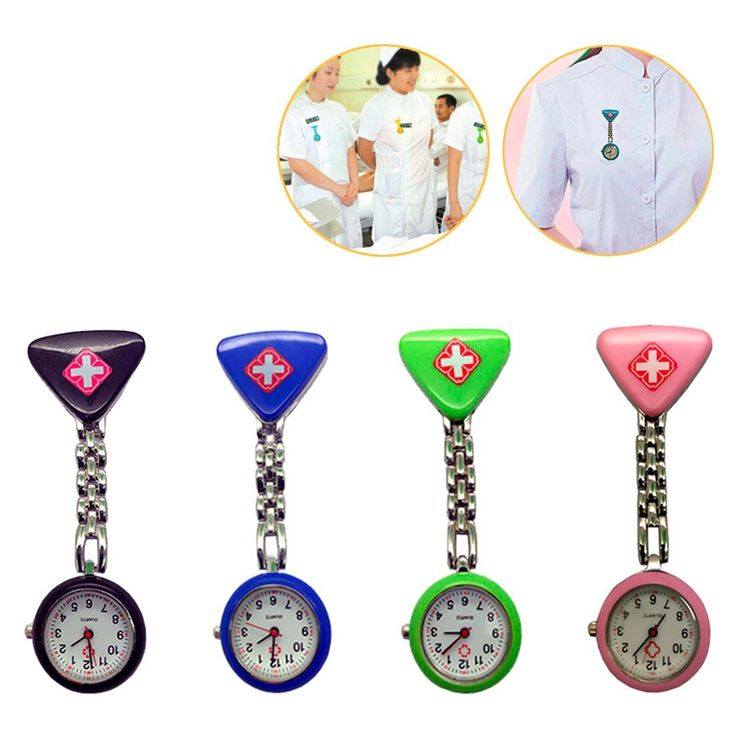 Women's Butterfly Smile Face Quartz Clip-On Brooch Nurse Hanging Pocket Watch Cute Colorful Female Clock Montre Femme Relo