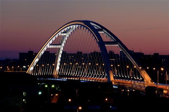 Apolla Bridge in Bratislava, Slovakia。 GORGIOUS!