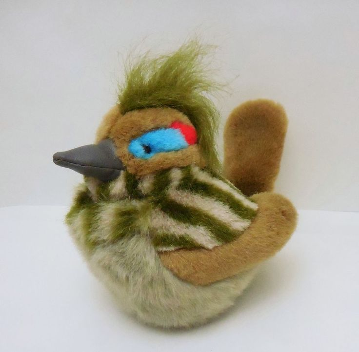 2003 K&M Wild Republic, Greater Roadrunner, Audubon, beanbag plush Bird w/sound #KMWildRepublic