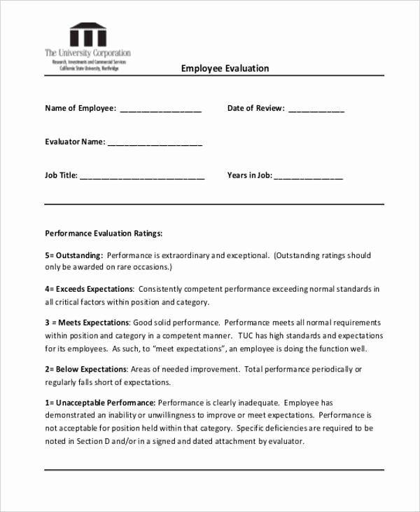 Sales Performance Appraisal Form Unique 20 Employee Evaluation Form Samples Templates Performance Appraisal Employee Evaluation Form Evaluation Employee