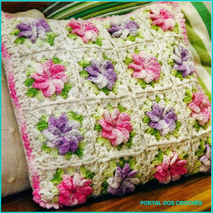 Free Crochet Patterns Flower Pillows : Crochet: pillow Crochet Pinterest