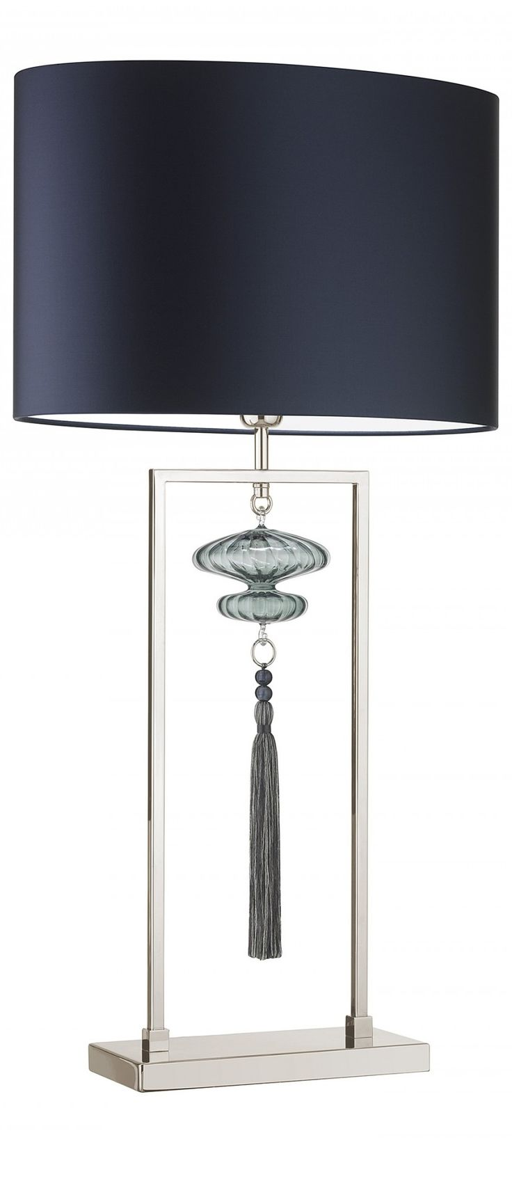 Blue blue table lamp table lamps modern table lamps for Contemporary table lamps for living room