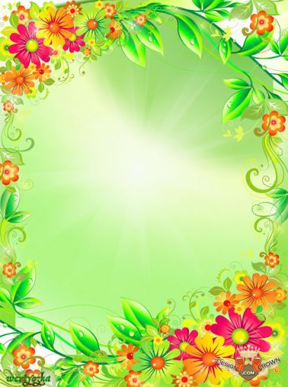 beautiful borders and frames images | summer flower photo frame 2012 with beautiful green leafs borders