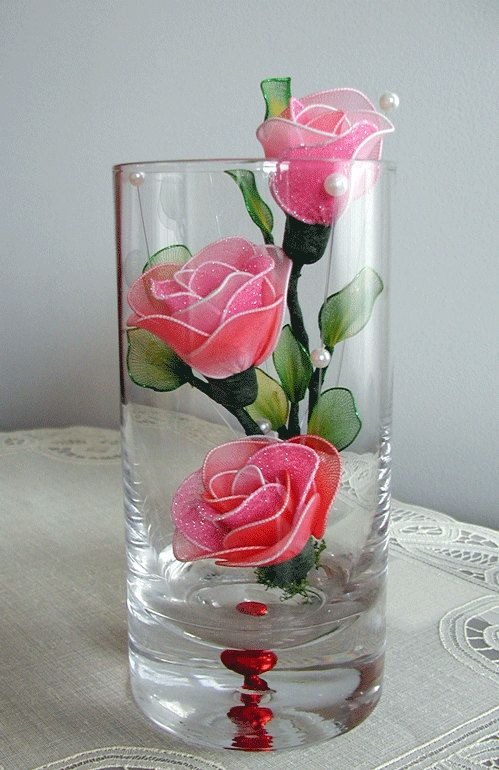 Handmade Small Pink Rose Arrangement by LiYunFlora on Etsy, $30.00