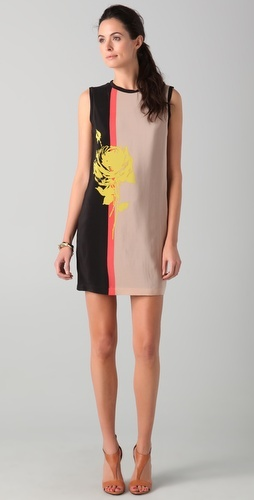 must have!                 Robert Rodriguez    Colorblock Rose Dress