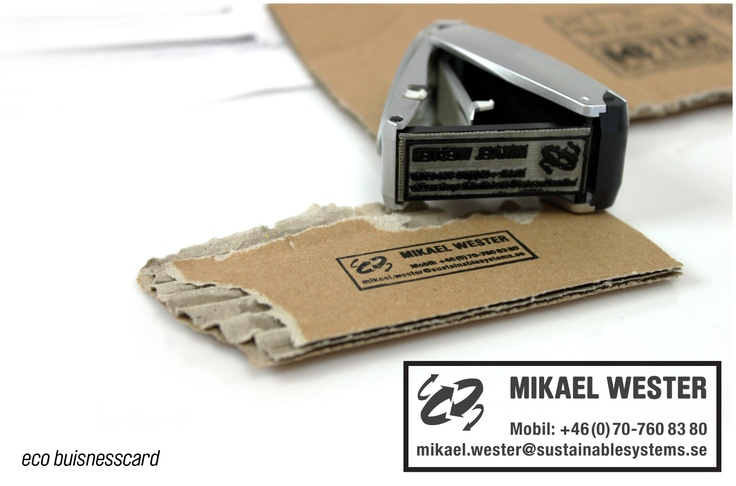Sustainable Systems - Business pocket-stamp Card
