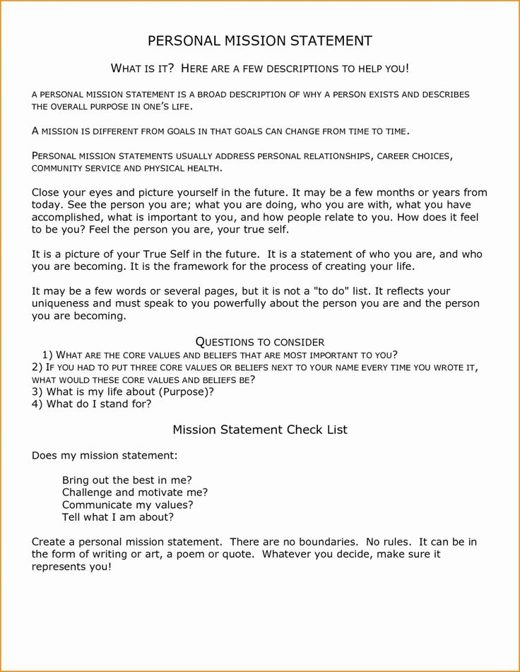 Non Profit Mission Statement Template New Resume Mission