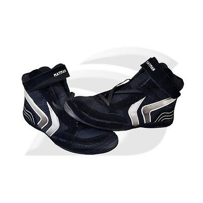 Matman Striker Adult Wrestling Shoes 9.5 Black/Silver
