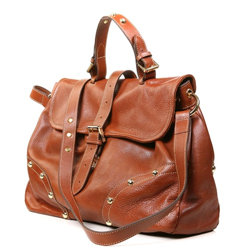 Mulberry Women's Lizzie Leather Satchel Bag Light Coffee £228.99 Save: 70% off