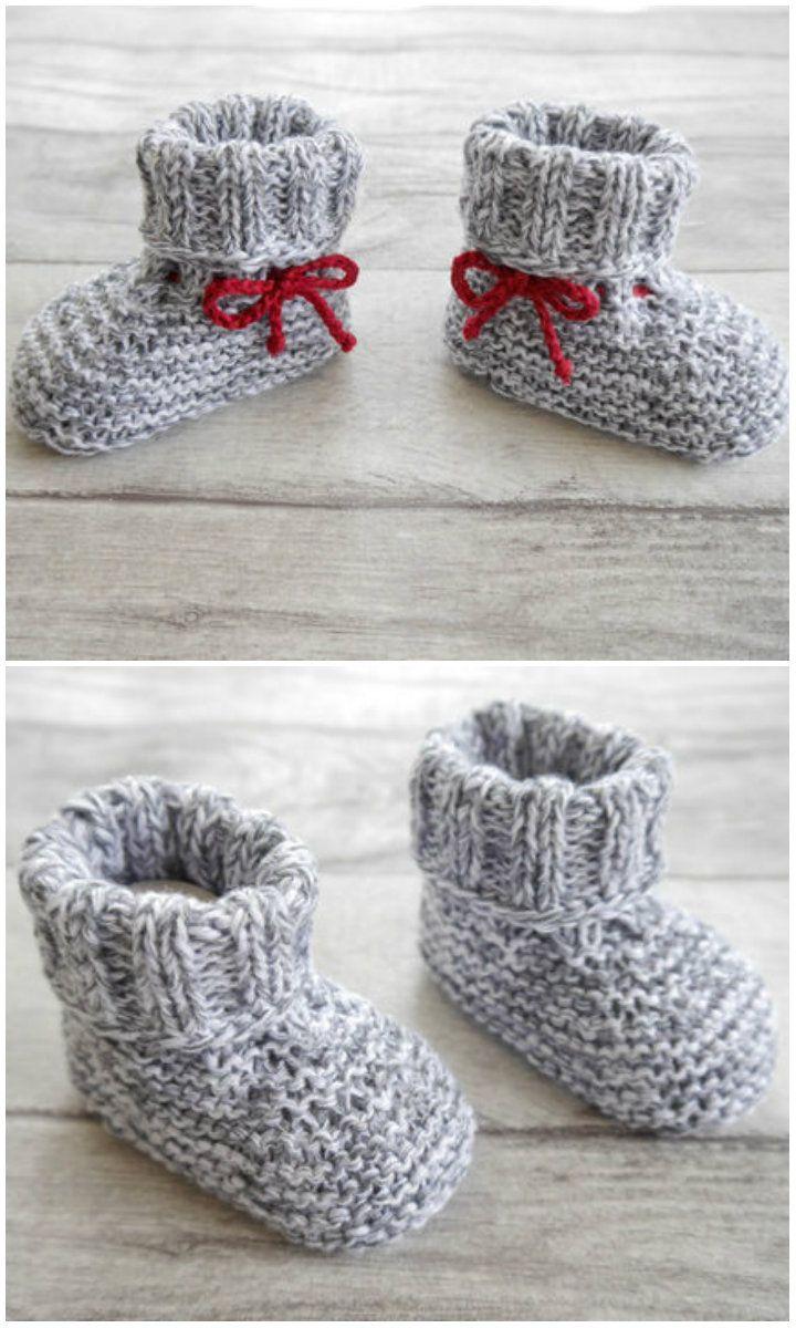 Strickschuhe zum Stricken und super für Wollreste – Strickanleitung über Makerist ….   – Stricken fürs Baby