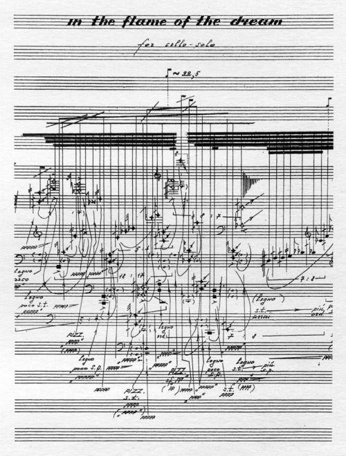 Vadim Karassikov – In the Flame of the Dream, for cello solo, graphic scoreA…