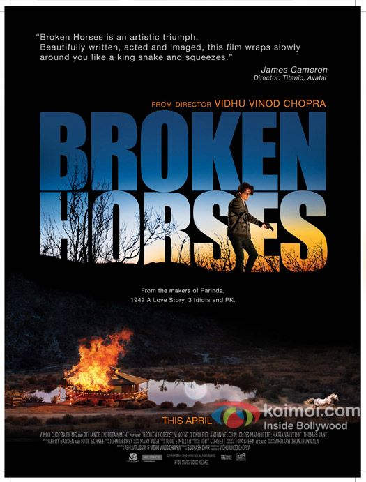 BROKEN HORSES (15). Crime | Drama | Mystery.  Dir. Vidhu Vinod Chopra, US, 2014, 101 mins.  Cast:  María Valverde, Vincent D'Onofrio, Thomas Jane. Release date: 10/04/15.