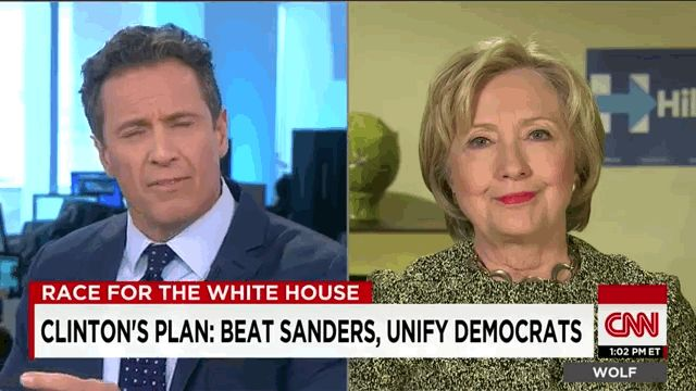 On Wednesday, CNN's Chris Cuomo asked Clinton about the comments…and she literally LOL'd for a good five seconds. | Hillary Clinton Literally LOL'd When The Sanders Camp Said She Was...ous