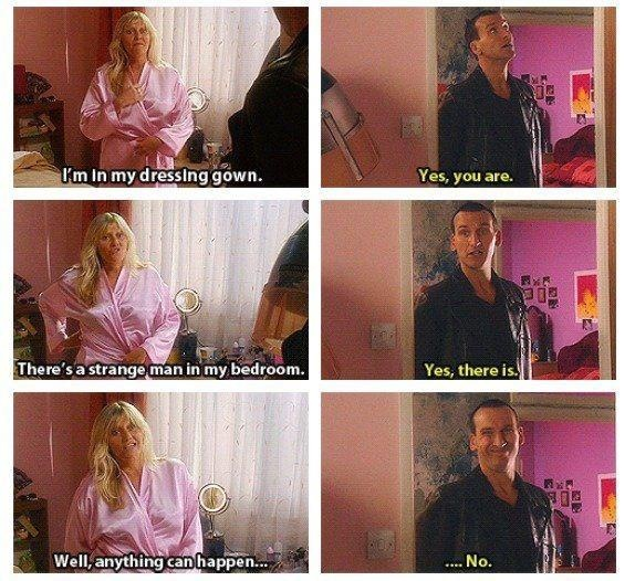 doctor who christopher eccleston - jackie tyler and the doctor - anything can happen