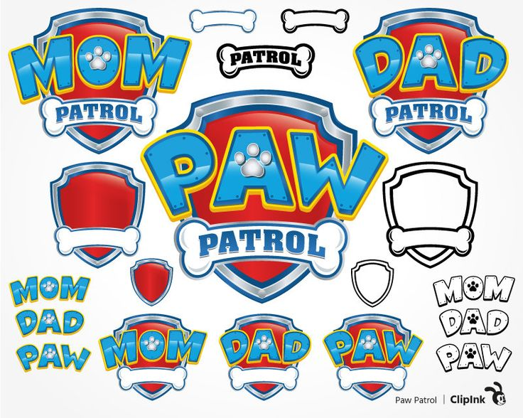 25 elements and variations of Paw Patrol logo with Mom Patrol and Dad Patrol versions + 3 simplified versions of Paw Patrol, Mom and Dad Patrol, easy to cut  _ _ _  ZIP file includes:  28 SVG files, 28 PNG files, 28 EPS files, 28 PDF files 28 DXF files.  _ _ _  No waiting.  No shipping fees.  Digital product, instant download. The digital file will be available to download through after purchase. No physical product will be delivered.  _ _ _  You are paying only for preparing vector files…