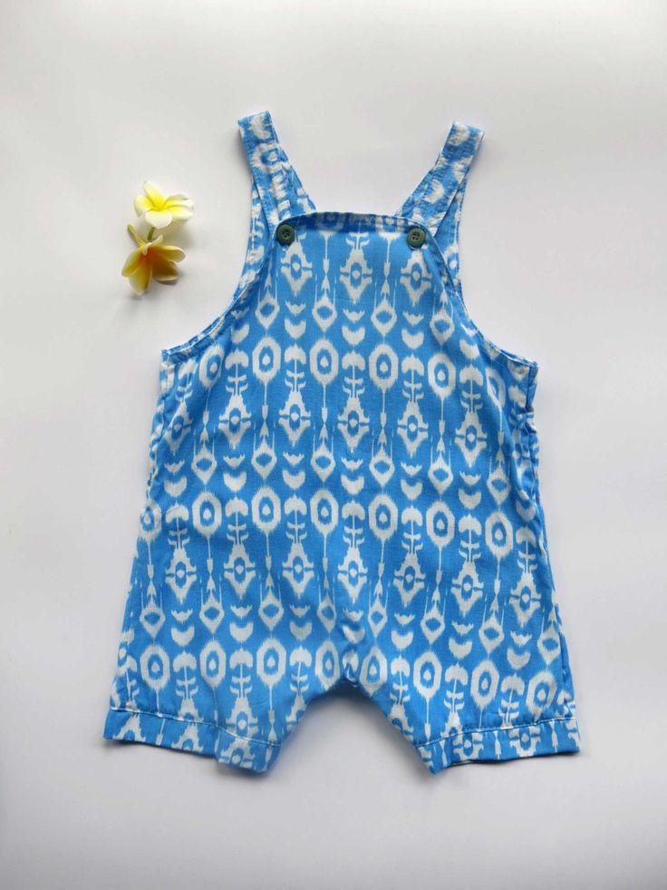 Boy Romper, Romper, Baby romper, toddler romper, kids romper, blue batik. by SacredHeyokah on Etsy