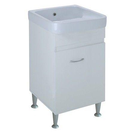 Mobile lavanderia completo Airone 45x53 cm bianco