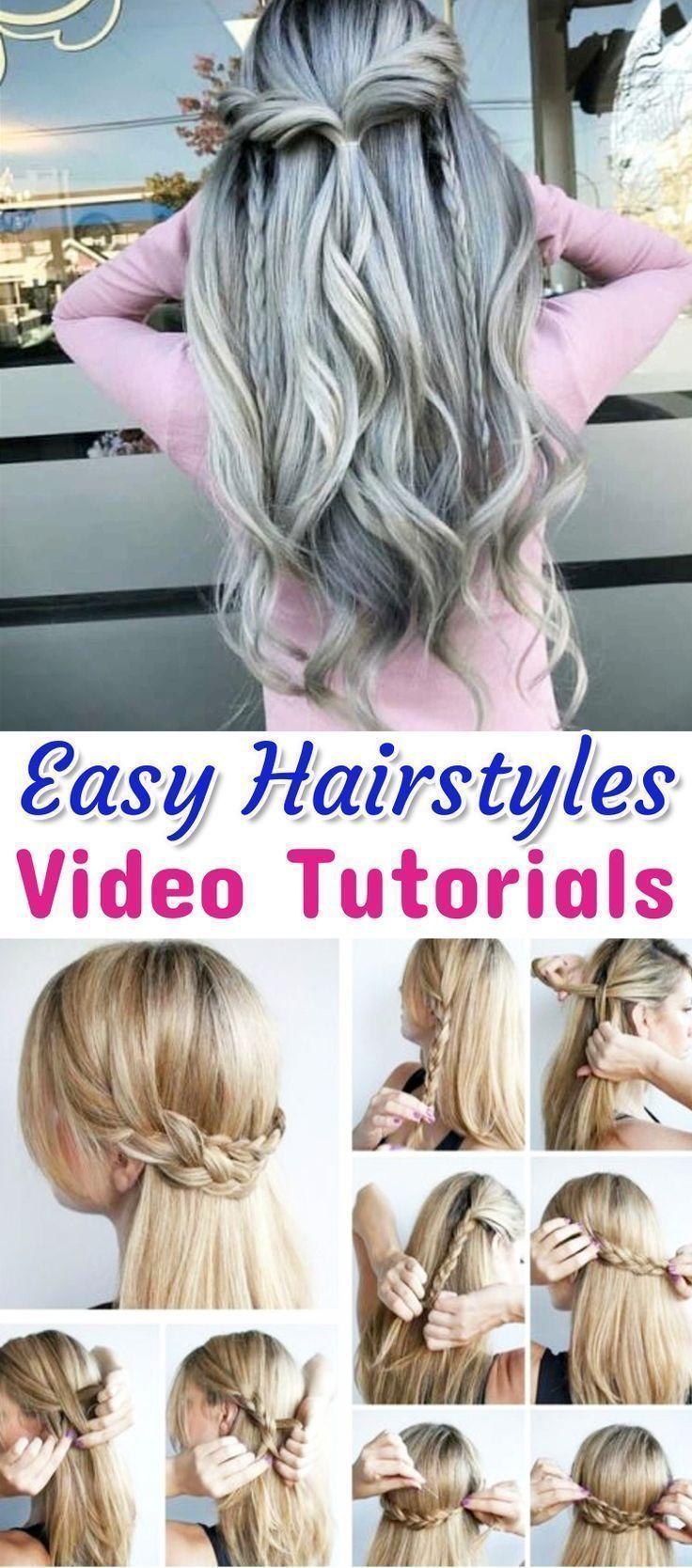 10 idées de coiffure EASY Lazy Girl {Pas à pas, Vi + # débutants #jour # facile # fille #… - # journée # facile # fille
