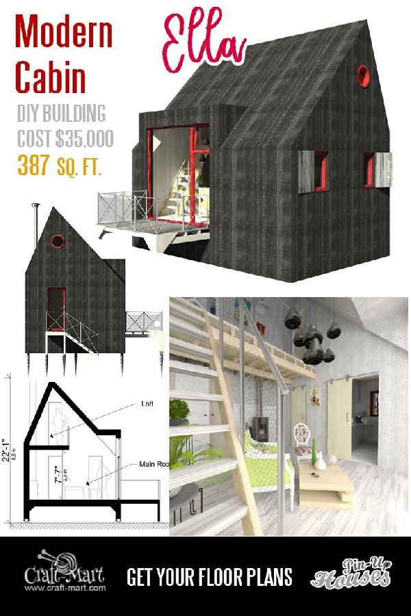 Tiny House Plans And Cabins Prefabs Kits Diy Plans Craft Mart Tiny House Exterior Unique Small House Plans Micro House Plans