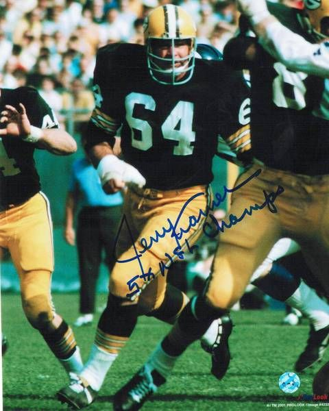 """Jerry Kramer Green Bay Packers Autographed 8x10 Photo Inscribed """"""""5X NFL Champ"""""""".."""