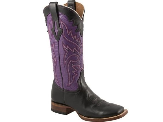 Shop New Lucchese M3612 Willow Womens Calf Leather Western Cowgirl Boots in Black Oil & Purple.  Free Shipping | Harrison Avenue