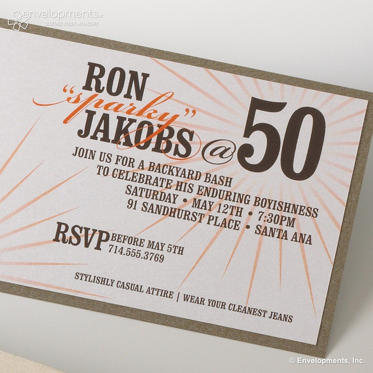 8 best 50th Birthday Invitations images on Pinterest | 50th birthday ...