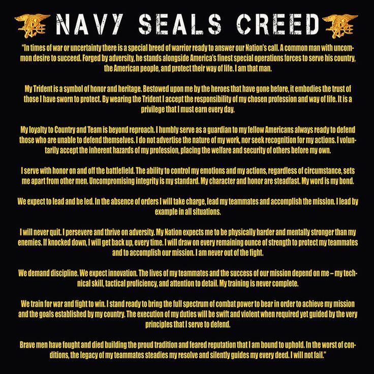 NAVY SEALS CREED POSTER