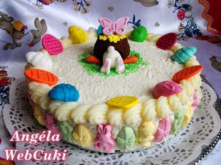 Túrókrémes torta http://angelawebcuki.blogspot.hu/2014/04/turokremes-torta.html