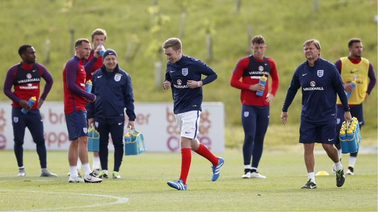 BURTON ON TRENT, England (AP)  The English Football Association says it will take ''appropriate action'' after a member of the public wearing an England training uniform ran onto the field Thursday during the national team's first practice session ahead of the European Championship.