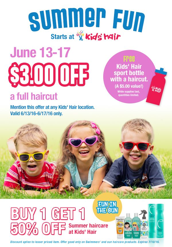 Kids Haircut Coupon, Discounts for Kids Haircuts | Kids' Hair Inc.