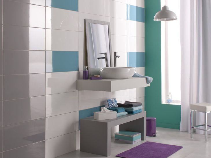 17 best images about pop on pinterest coins home and colors - Carrelage mural turquoise ...