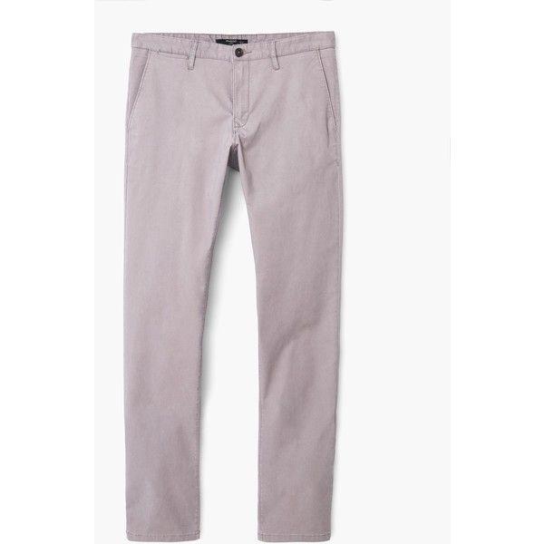 Chino straight-fit cotone - Pantaloni da Uomo   MANGO (€30) via Polyvore