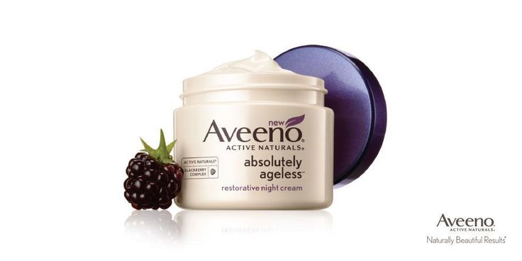 Want to look younger, longer?Take the right steps now. Try new AVEENO® Absolutely Ageless® Restorative Night Cream with its ACTIVE NATURALS® Blackberry Complex of antioxidants, vitamins, and powerful anti-aging ingredients. It helps improve elasticity and firmness for younger-looking skin in just one week.