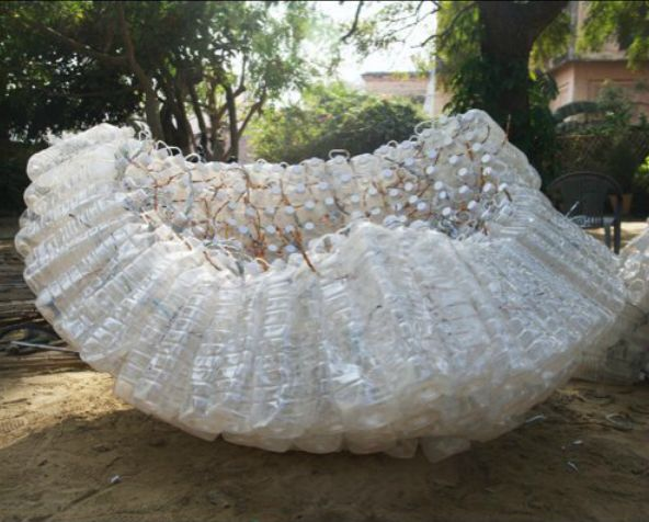 "constructive process of ""Indra's Cloud"" - Anne Percoco - 2008 - Jai Singh Ghera, India"