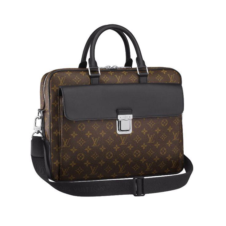 Louis Vuitton M56719 Monogram Macassar Canvas Soft Briefcase