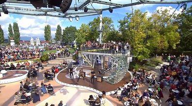 Kensington performed Bridges live on ZDF Fernsehgarten this afternoon. .  .  .  #kensington #kensingtonband #fernsehgarten #tvshow #bridges #livemusic #eloiyoussef #casperstarreveld #janhaker #nilesvandenberg