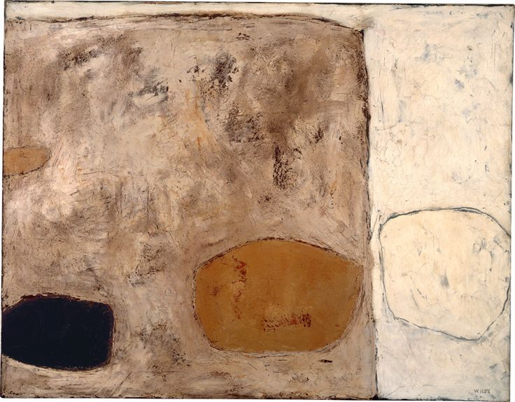 William Scott, Still Life (MJ2), 1958, Oil on canvas, 71.5 × 91.5 cm / 28¼ × 36 in, Whereabouts unknown