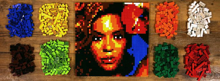 Use your own photos to create your own Lego art! Photobrix - LEGO™ Wall Art Instruction Generator