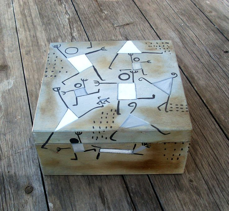 Wooden Keepsake Box - DANCING IN FEAR by allabouthandicraft on Etsy