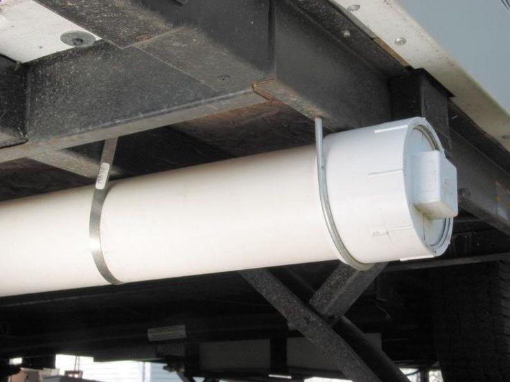 Storage under camper (for fishing poles?)